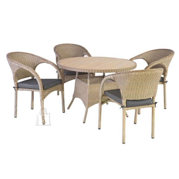 Komplekt JUNE laud ja 4 tooli (10298)