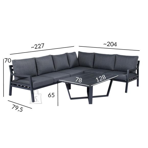 Garden4you Komplekt PHOENIX laud ja nurgadiivan