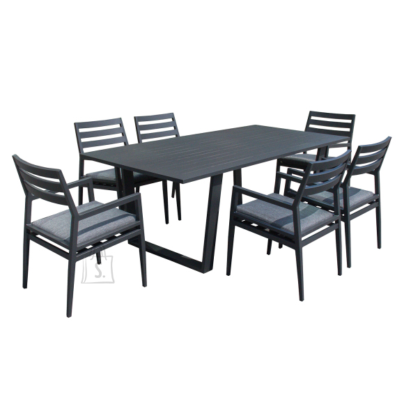 Garden4you Komplekt PHOENIX laud ja 6 tooli