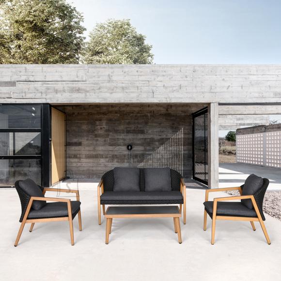 Garden4you Komplekt ERFURT laud, diivan ja 2 tooli