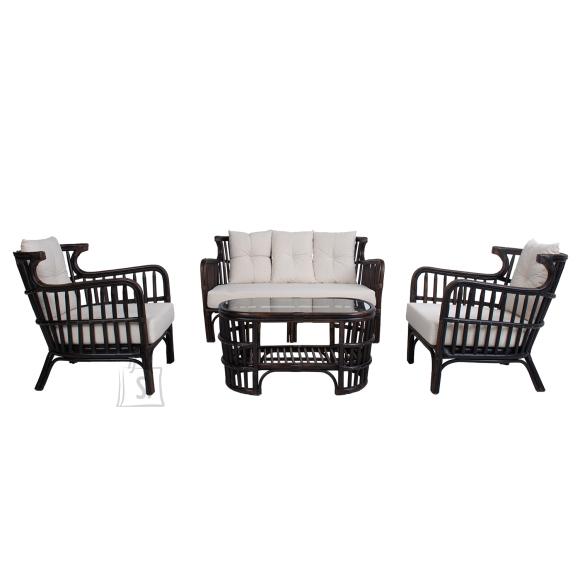 Komplekt HAMPTON laud, diivan, 2 tooli