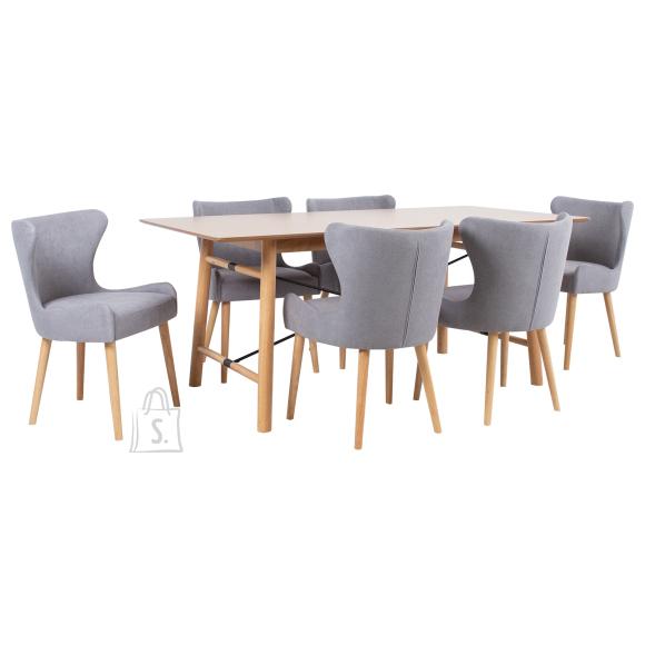 Söögilauakomplekt EMERALD 6-tooliga