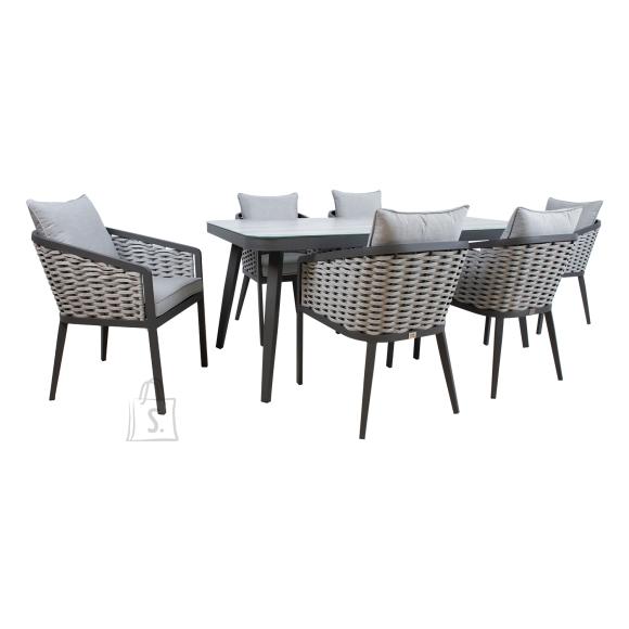 Komplekt MARIE laud ja 6 tooli