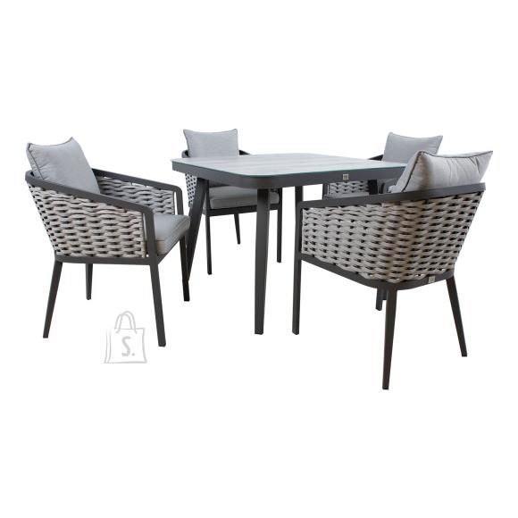 Komplekt MARIE laud ja 4 tooli