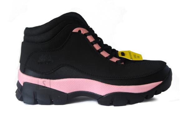 Groundwork Naiste musta roosa kirjud turvatoega saapad GR386
