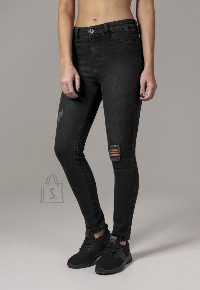 Urban Classics kõrge värvliga naiste teksapüksid
