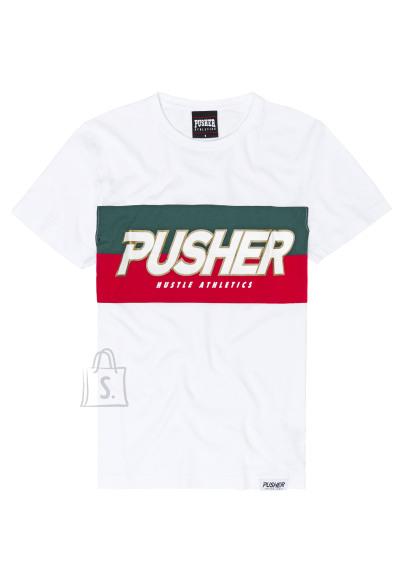 Pusher PU032 logoga meeste T-särk Hustle