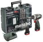 Metabo 63-osaline akutrell PowerMaxx Basic Mobile Workshop