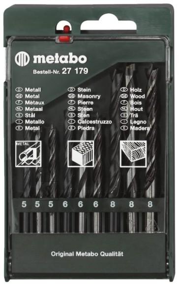Metabo 9 osaline (puit/met/bet) puuride segakomplekt