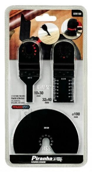 Black & Decker Multitööriista terade komplekt, 3-osaline, Black&Decker