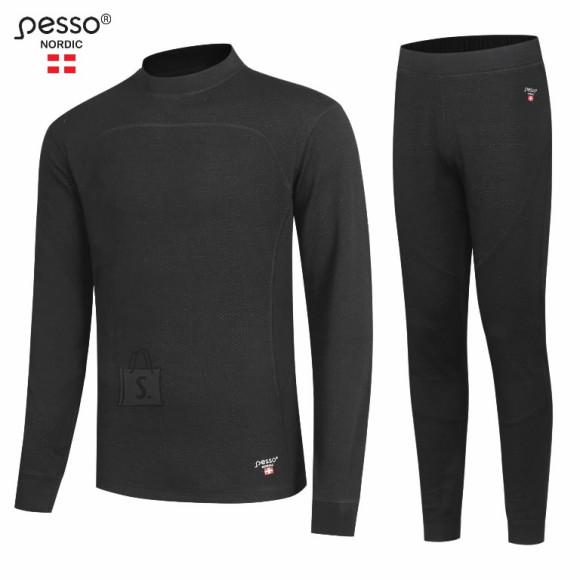 Soojapesu komplekt MERINO80, must 4XL, Pesso