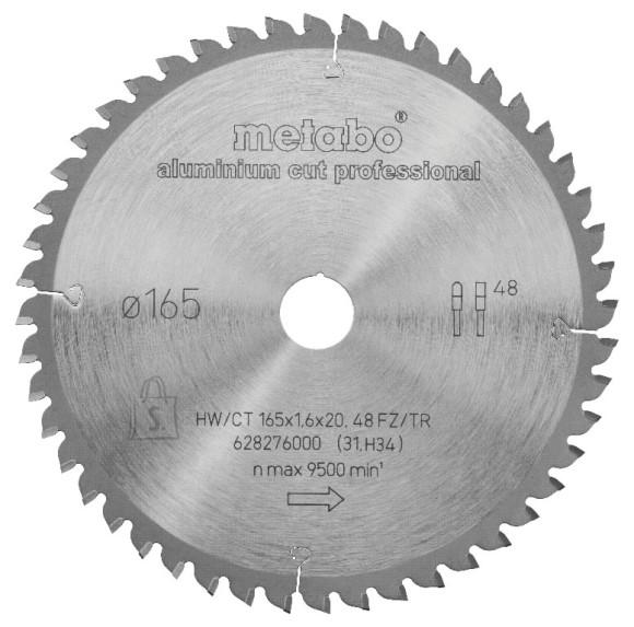 Metabo Saeketas 165x20 Z48 FZ/TR -5° AluminiumCutProf MKS18 LTX57, Metabo