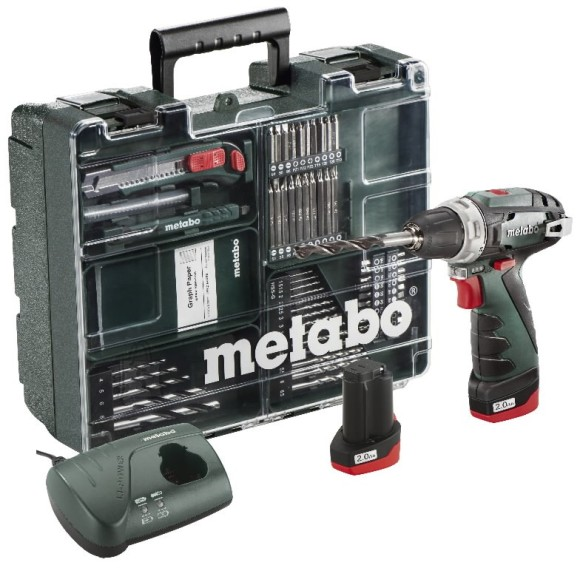 Metabo 63-osaline akutrell PowerMaxx Basic Mobile Workshop