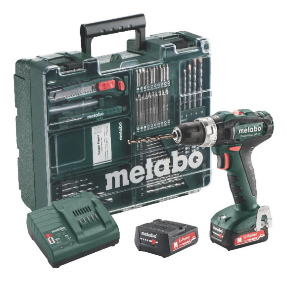 Metabo Löögiga akutrell PowerMaxx SB 12, Mobile Workshop / 2x2,0 Ah, Metabo