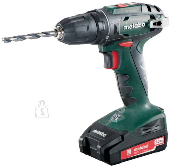 Metabo Akutrell BS 18, 10 mm padruniga / 2,0 Ah, Metabo
