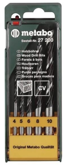 Metabo 4-10mm, viie osaline puidupuuride komplekt