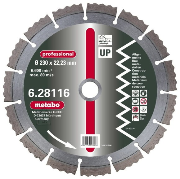 Metabo UP, 230x22,23mm, professional teemant lõikeketas