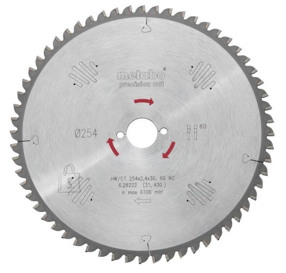 Metabo Saeketas 254x2,4/1,8x30, z60, WZ, -5°. Precision cut, Metabo