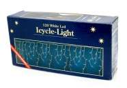"""120 valge LED tulega """"jääpurikate""""valguskardin"""