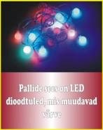20 LED valguspalli d. 2cm isemuutuvate värvidega