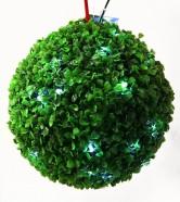 30 valge LED tulega tehislehtedega roheline pall
