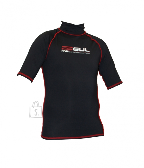 Gul Riva meeste lycra särk Rashguard S/S Black