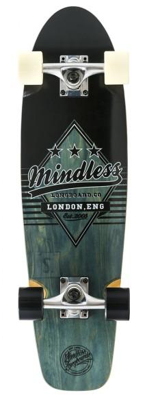 Mindless Daily Grande II longboard Black/White 7,75 x 28