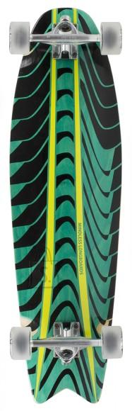 Mindless Longboard ROGUE SWALLOW TAIL  Green 9,7x34