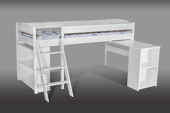 Poolkõrge voodi Bergen 80*200cm koos kirjutuslauaga