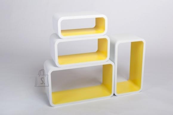 Riiulid Color LO01, valge/kollane