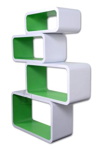 Riiulid Color LO01, valge/roheline