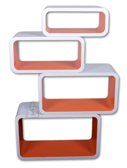 Riiulid Color LO01, valge/oranž