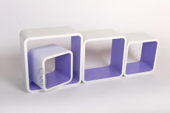 Riiulid Color LO01, valge/violetne