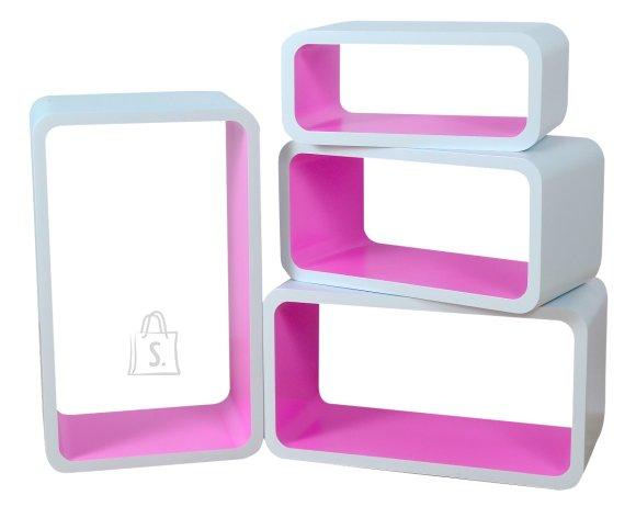 Riiulid Color LO01, valge/roosa