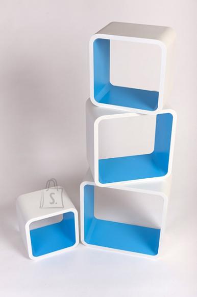 Riiulid Color LO01, valge/sinine