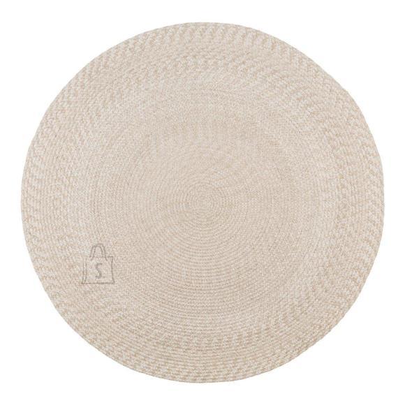 *Suur efektne vaip on punutud 100% taaskasutatud plastist<br /> *v??rv: bee??<br /> *sobib kasutamiseks ka terrassil v??i r??dul