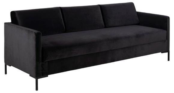 *Diivanvoodi karkass on valmistatud puidust ja puitlaastplaadist<br /> *istumisosa sisuks on pehme poroloon ja bonell vedrustus<br /> *kaetud antratsiithalli sametise kangaga Letto 1072<br /> *magamisosa m????dud: 139x200 cm<br /> *magamisase sobib igap??evaseks kasutamiseks<br /> *istumisk??rgus: 48 cm<br /> *istme s??gavus: 66 cm<br /> *diivani tagaosa on viimistletud