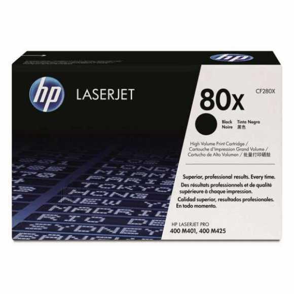 HP Tooner HP CF280X Nr. 80X, 6900 lehte, must