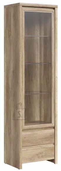 Vitriinkapp Kaspian 1-ukse, 2-sahtli ja käepidemeteta