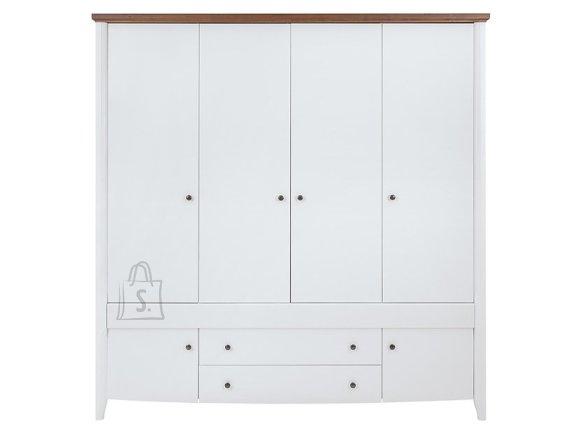 Kalio wardrobe white gloss/gold acacia/white gloss