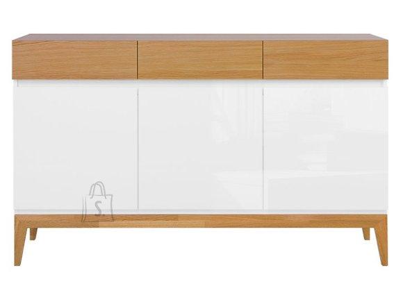 Kioto drawer white/white gloss/natural oak
