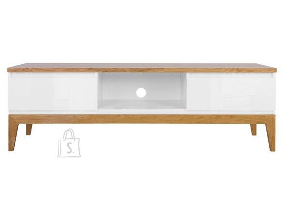 Kioto tv cabinet white/white gloss/natural oak