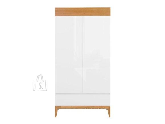 Kioto wardrobe white/white gloss/natural oak