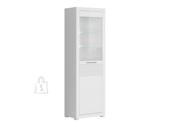 Flames glass cabinet white gloss
