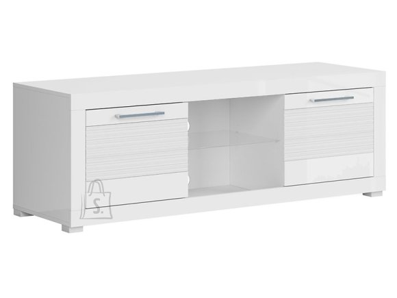 Flames tv cabinet white gloss