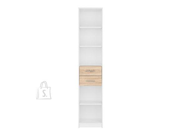 Nepo Plus bookshelf white/sonoma oak