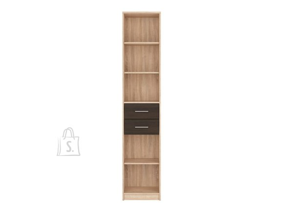 Nepo Plus bookshelf Sonoma oak / wenge