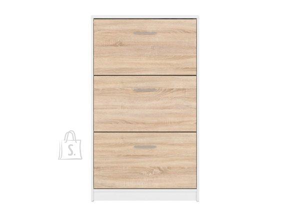 Nepo Plus shoe cabinet white/sonoma oak