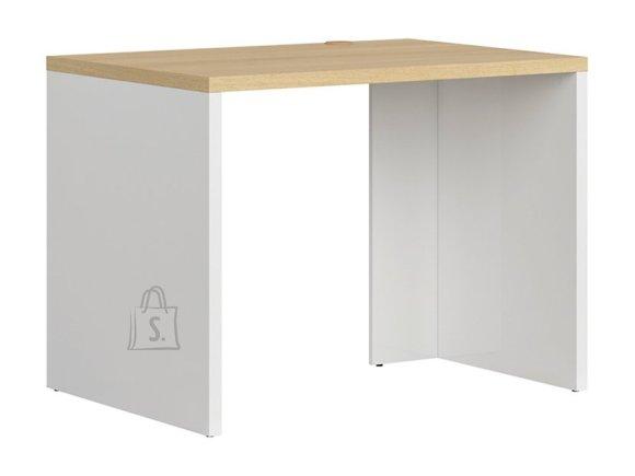 Denton desk white gloss/polish oak