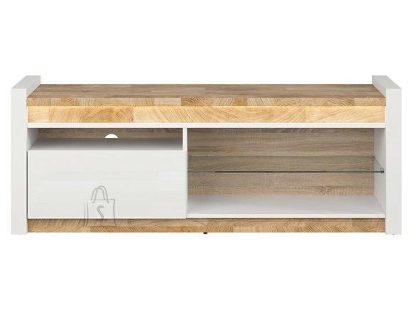 Alameda tv cabinet white gloss/westminster oak/white gloss